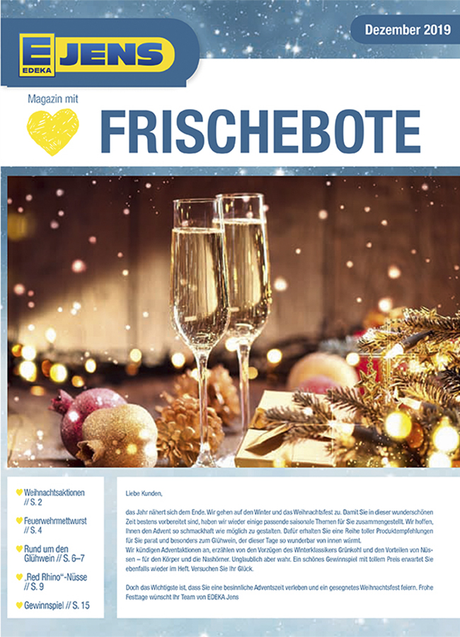 EDEKA Jens Marktzeitung Dezember 2019